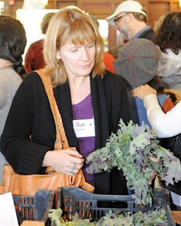 Courtesy Rudi Halbright, Sue Fishkoff at the Hazon Food Conference 2008