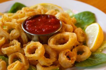 Calamari: Not your traditional Seder table fare.