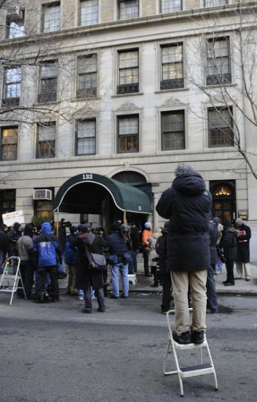 Photographers staked out the Upper East Side building where the Madoffs lived. Ruth Madoff moved out last week.