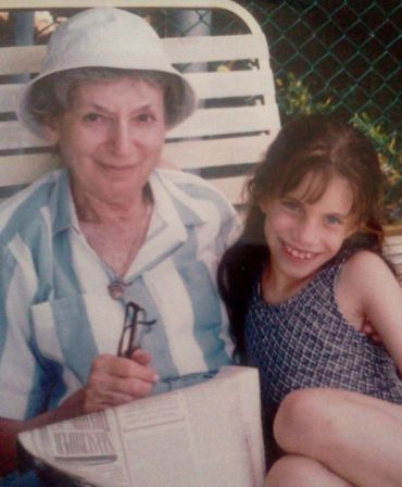 Sarah Seltzer and her grandmother