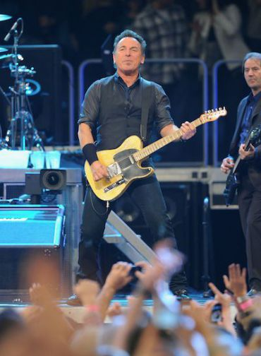 Bruce Springsteen performs in New York on the first night of Passover.