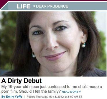 Emily Yoffe writes Slate?s ?Dear Prudence? column.
