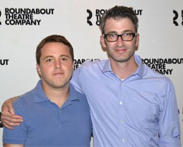 Joshua Harmon (left) and Bad Jews director Daniel Aukin. Photo courtesy of Roundabout Theater Company.
