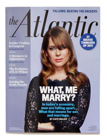 An Atlantic cover story about single women.