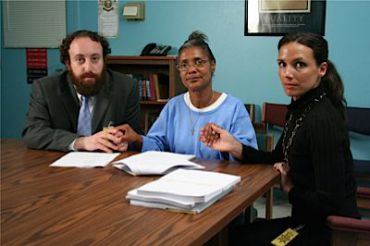 Joshua Safran, Deborah Peagler and Nadia Costa in ?Crime After Crime.?