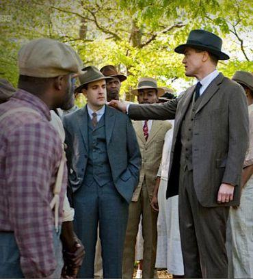 Erik Weiner as agent Sebso, center, and Michael Shannon as Van Alden in HBO?s ?Boardwalk Empire.?