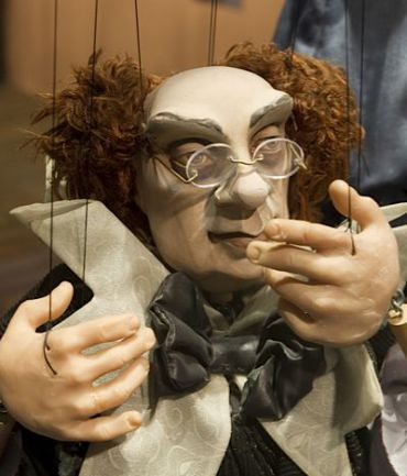 A puppet from an exhibit at Holon?s Puppet Theater Center in July.