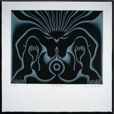 Judy Chicago, ?The Crowning,? 2009. Courtesy Donald Woodman/ Ben Uri Gallery.