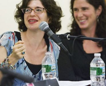Leora Tanenbaum and Rebecca Traister at the Brooklyn Book Festival.