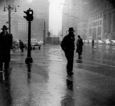 ?Rain, 1954? by Arthur Leipzig