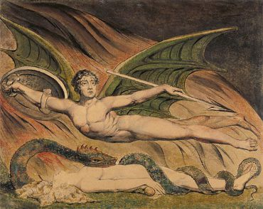 ?Satan Exulting over Eve,? William Blake, 1795.