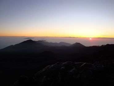 Sunrise at Mount Haleakala (click to enlarge)