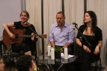 Left to Right: Naomi Less, Amichai Lau-Lavie and Neshama Carlebach.