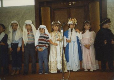 The author as Queen Esther, second from left. (Click to enlarge)