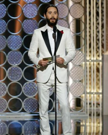 "Jared Leto declared ""Je Suis Charlie"" while presenting at the Golden Globes."