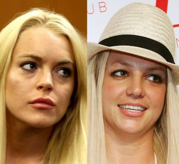 Lindsay Lohan and Britney Spears (click to enlarge)