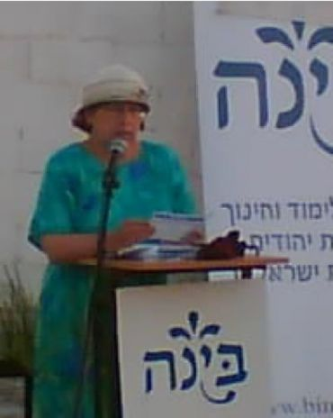 Leah Shakdiel protesting against the privatization of Israeli prisons in 2007.