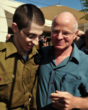 Gilad and Noam Shalit the day of Gilad?s release.