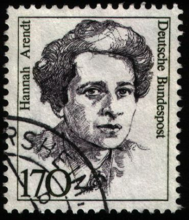 Hannah Arendt honored on a German stamp.