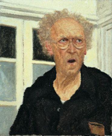 Self-Portrait in the Studio, 2001, oil on canvas, Collection of Gordon Gallery, Tel Aviv