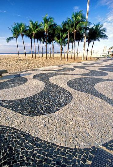 The Copacabana beach path, designed by Burle Marx.