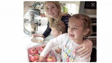 Trump taking inspiration from another working mom and lifestyle guru, Gwyneth Paltrow, whose apples she and her children are baking.