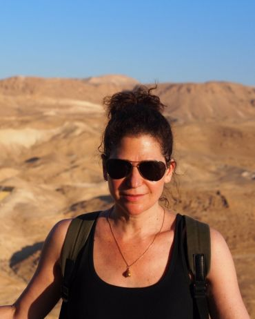 Me on Masada just past sunrise, having hiked up the Snake Path.