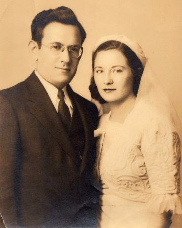Grand Inspiration: Morris and Sylvia Paley on their wedding day.