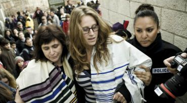 Susan SIlverman and her daughter, Hallel Abramowitz-Silverman, are arrested during Women of the Wall portest last week.