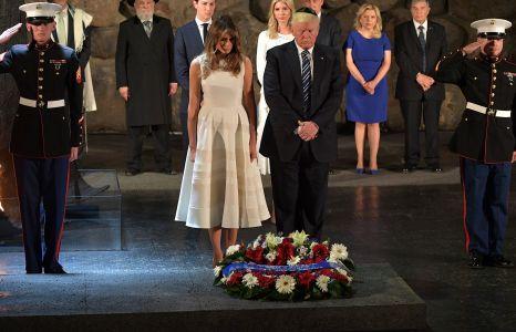 Donald and Melania Trump at Yad Vashem.