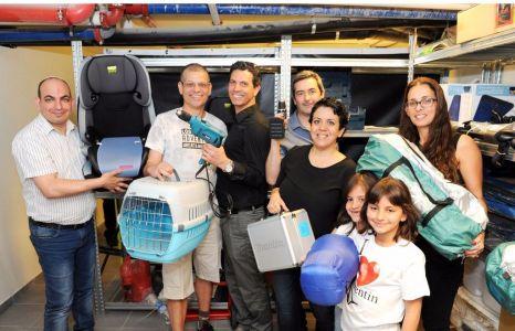 The Tel v Kach team, from left to right: Yossi Ben Shusan, Yehuda Shaibi, Alon Yosef, Yair Engel, Talya Galam, Irit Zohar Itzhak.