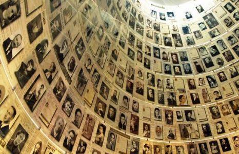 An exhibit of Holocaust victims at Yad Vashem.