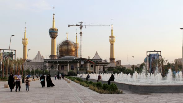View of Ayatollah Khomeini's tomb, Teheran.