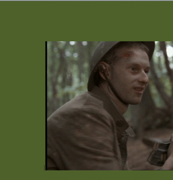 "Arthur Kremer as Abraham Krotoshinsky in the 2001 movie ""The Lost Battalion."""