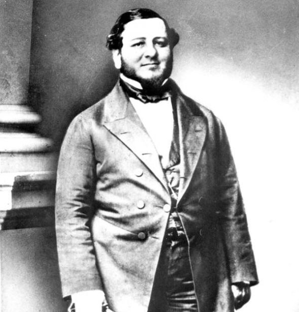 Judah Benjamin sometime between 1861 and 1865.