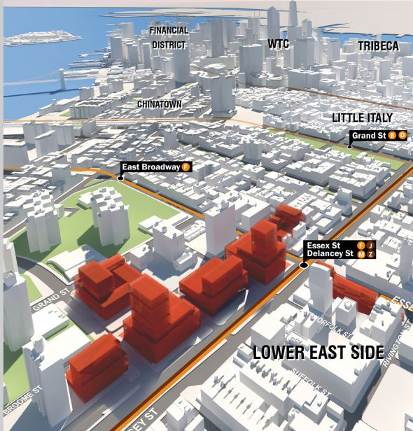 Shock of the New:  The Mayor of New York unveiled this potential plan for the Lower East Side, in 2013.