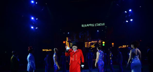 Ringmaster John Kennedy Kane performs at the Big Apple Circus in New York on October 26, 2013.