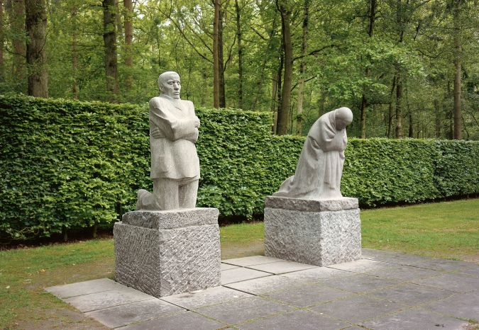 The Grieving Parents:  A memorial to Kollwitz's son Peter in Ypres, Belgium.