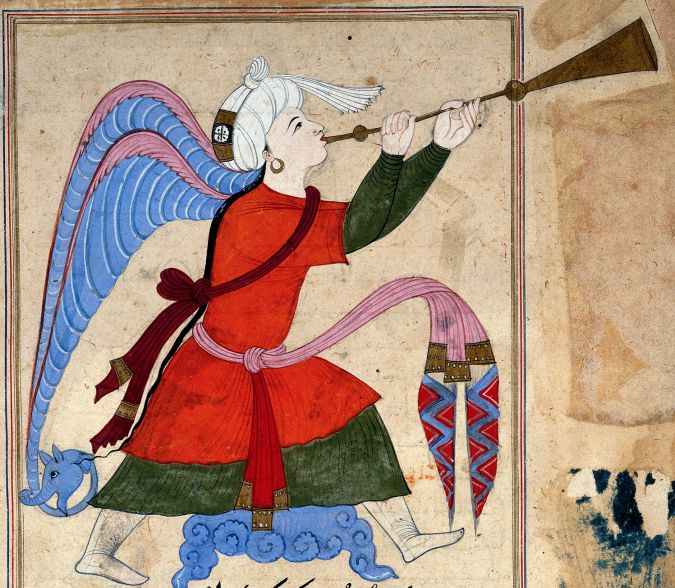 """The Archangel of Israfil: From """"The Wonders of Creation and Oddities of Existence,"""" by al-Qazwini."""