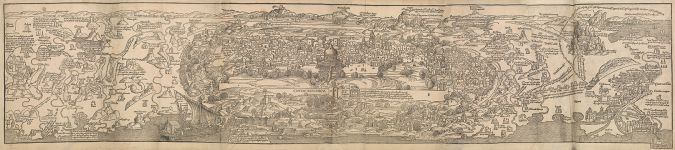 """View of Jerusalem: From """"Journey to the Holy Land,"""" Mainz, 1486"""