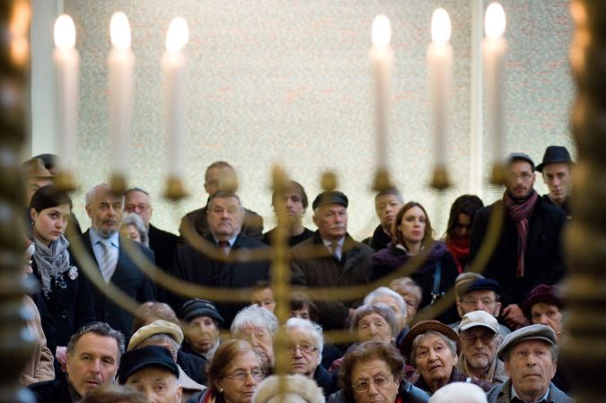 Martyrs Rememberers:Jews gather in Prague's Pinkas Synagogue on March 8 for the community's annual memorial for 4,000 Czech Jews killed in Birkenau in 1944.