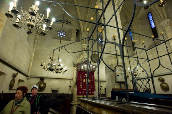 Old and Empty:Prague's Old-New Synagogue, built in the 13th Century, reflects the long presence of Jews in the Czech Republic/ Bit services today are often sparsely attended by a Prague Jewish community that is overwhelmingly secular.