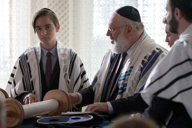 "Rabbi Rothschild officiates a Bar Mitzvah ceremony on the German hit TV show ""Tatort."""