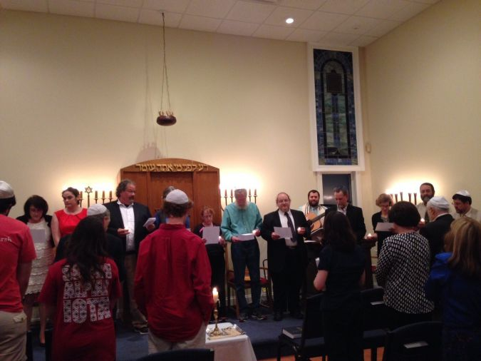 Southern Comfort: embers of Congregation Beth Shalom, in Auburn, Alabama, gather earlier this year for a memorial service for one of its founders.