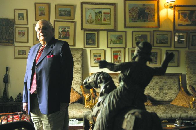 JFR Jacob, in his home in New Delhi.