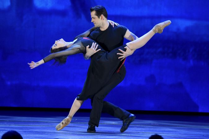 """Members of the cast of """"An American in Paris"""" perform at the 2015 Tony Awards."""