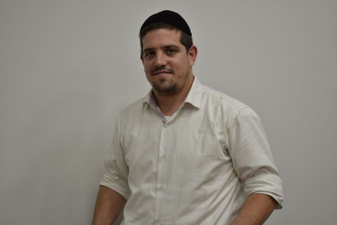 A New Education: Elchanan Feder is one of the two male Haredi students.