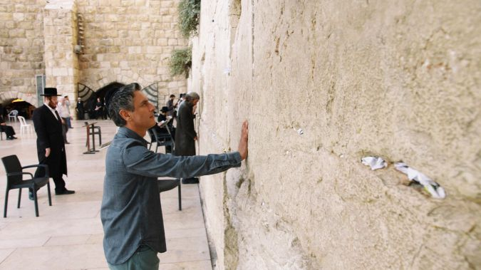 Reza Aslan at the Western Wall.