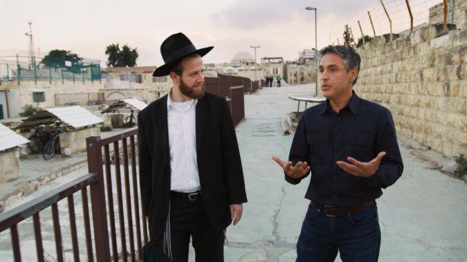 Reza Aslan walks through Jerusalem with Shalom, an ultra-Orthodox Jew.