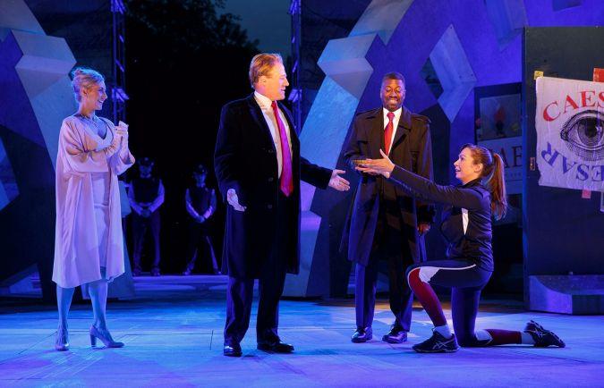 """""""Julius Caesar"""" at the Public Theater."""